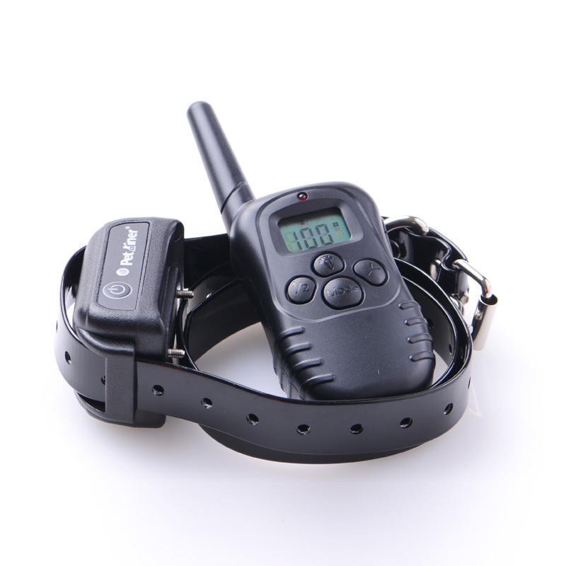 Rechargeable and waterproof 300 meters Remote Pet Training Collar with LCD display