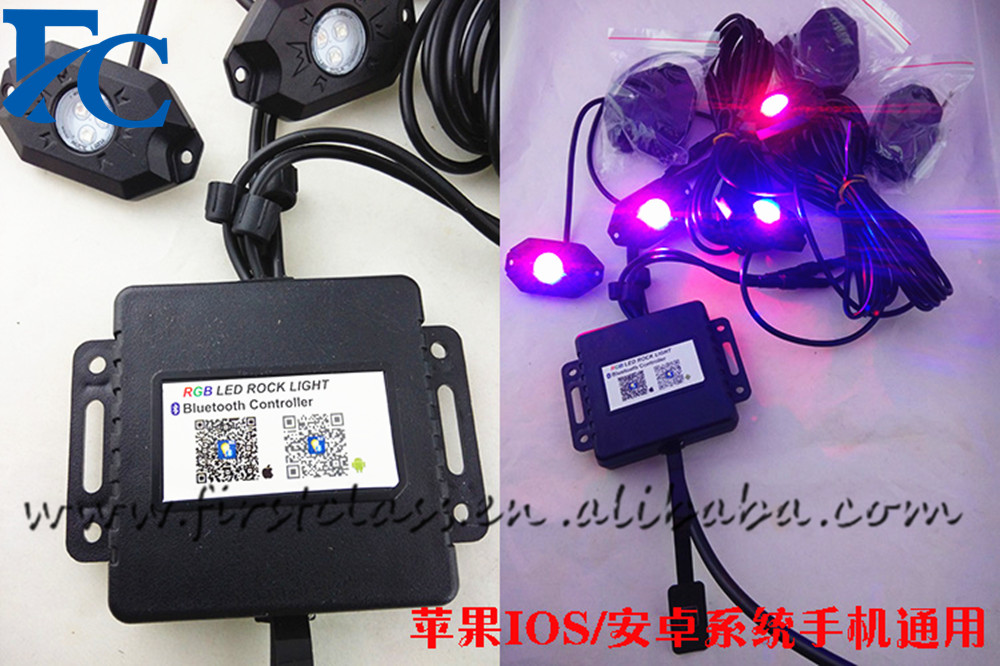 Single color/ RGB color changing 9W high power 2inch off road led rock lights
