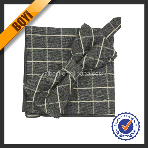 New Checked Bow Tie And Handkerchief Wholesale