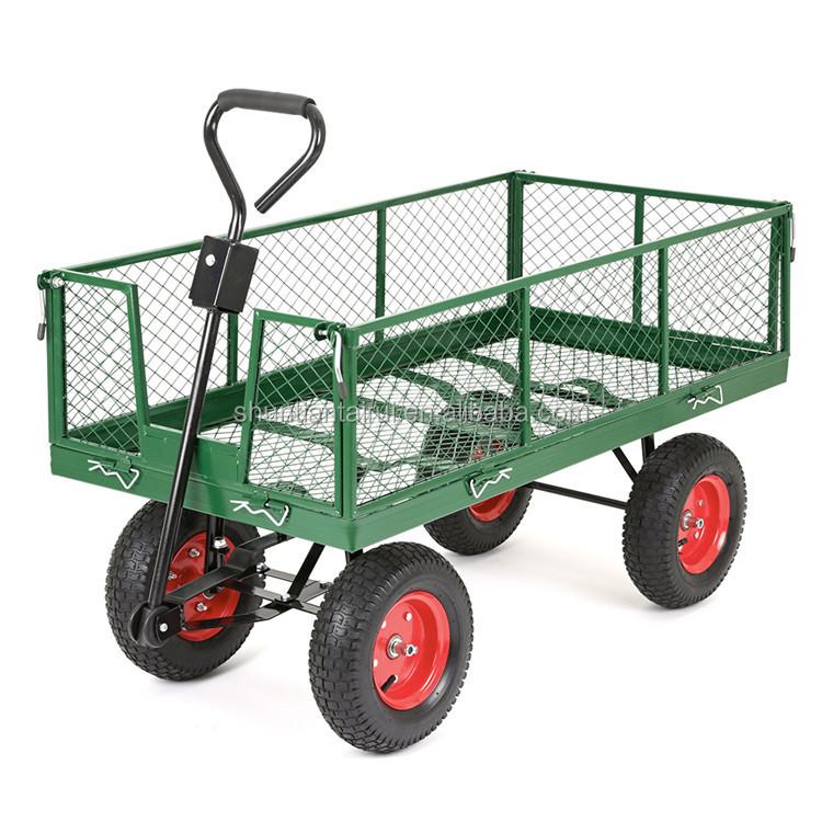 Dump Garden Cart With 4 Wheels   Buy Garden Dump Cart,Four Wheel Garden Cart ,Garden Cart Product On Alibaba.com