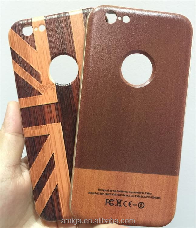 bamboo mobile phone cover case with carved wood cases for iphone 6 6plus