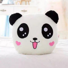 Custom Animal Head Shaped Pillow Led Light Up Plush Panda Pillow