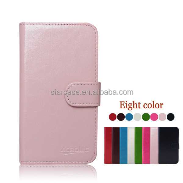Small MOQ Wholesale High Quality Stand Flip Wallet Leather Case for Lenovo A500