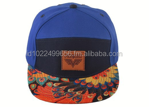 Custom 6 panels snapback cap with your own design