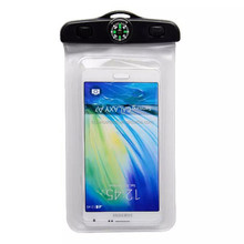 Universal Phone Bags Pouch with Compass Lanyard Armband Waterproof Cases Covers Perfect for 4.5-6 inch Mobile Phones