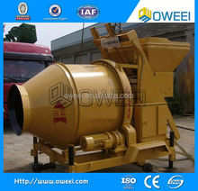 super quality China manufacture concrete mixer machine price in india with lifting ladder
