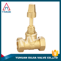 brass angle type stop valve corporation stop valve for auto control in Oujia valve factory