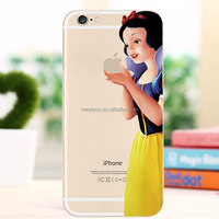 Custom Cartoon characters phone case for iphone 5/5s clear snow white PC hard phone case for iphone 5 5S