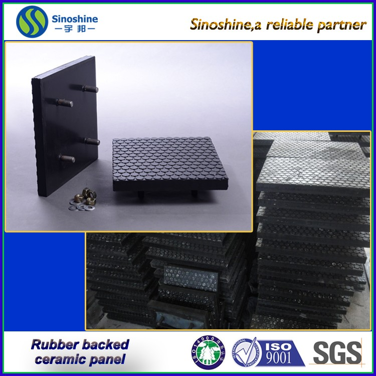 <strong>Ceramic</strong> & Rubber Composite Wear Panel/abrasion resistant wear plates in China