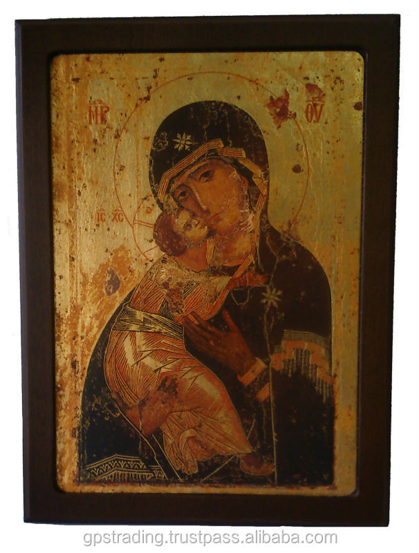 Icon with gold leaf