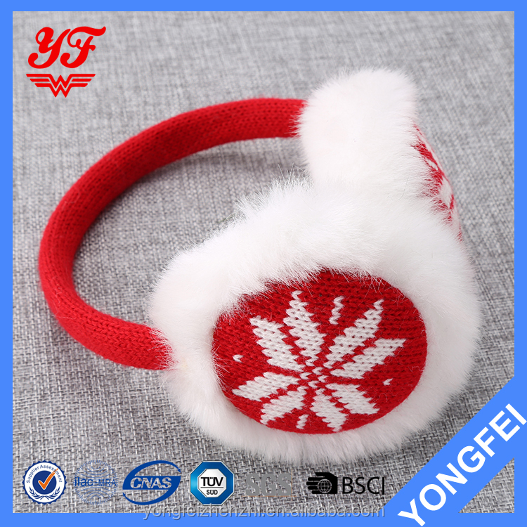 Snow design hot sale knitted winter warm ear muff