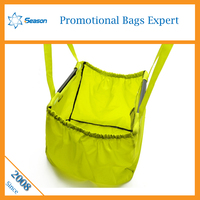 Customized Promotional nylon polyester reuseable carry pocket shopping bags foldable