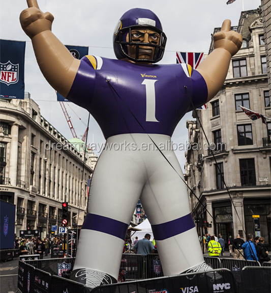 2017 most popular inflatable football player, inflatable viking for sale
