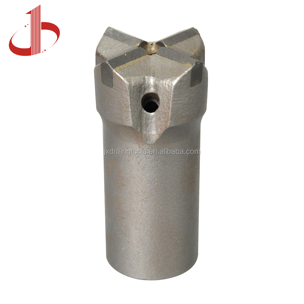 R32 45mm Drill pipe furnace tapping tools cross type rock drilling bit