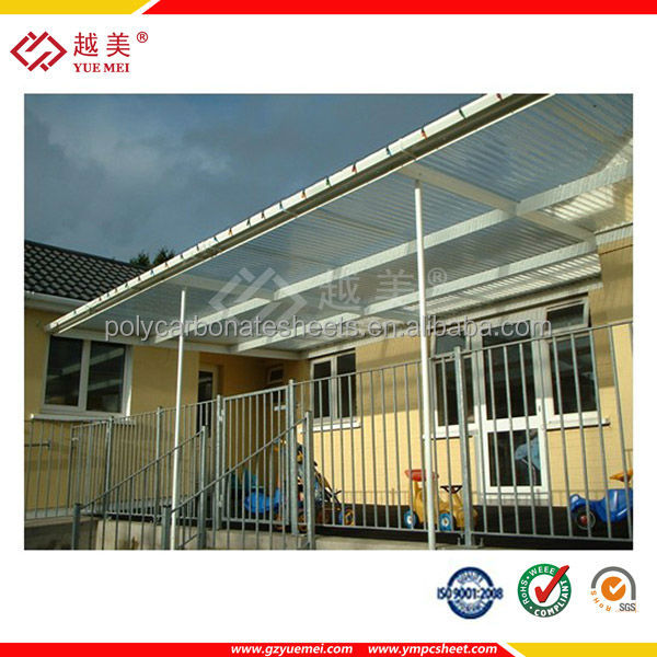 Clear Polycarbonate plastic awnings