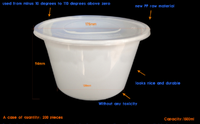Innovative good sealing performance disposable bowl