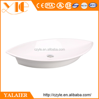 Factory price latest stylish countertop oval sink for barber