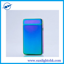 The latest Windproof lighters creative metal USB charging electric double arc electric induction pulse lighter cigarette
