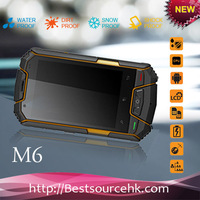 "IP67 MTK 6577 Dual core Android 4.0 Dual Sim 3.5""touch screen M6 rugged phone GPS wifi bluetooth rugged android phone"