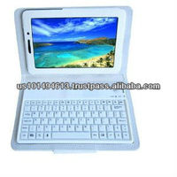 Slimbook PU Leather Bluetooth Keyboard and Protective Case for Samsung Galaxy Tab 7.0 Plus P6200/P3100 - White -
