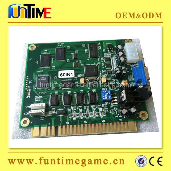 60 in 1 cocktail game board for sale / jamma arcade game board