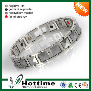 High Quality 4 In 1 Bio Elements Magnetic Tungsten Bracelet Men
