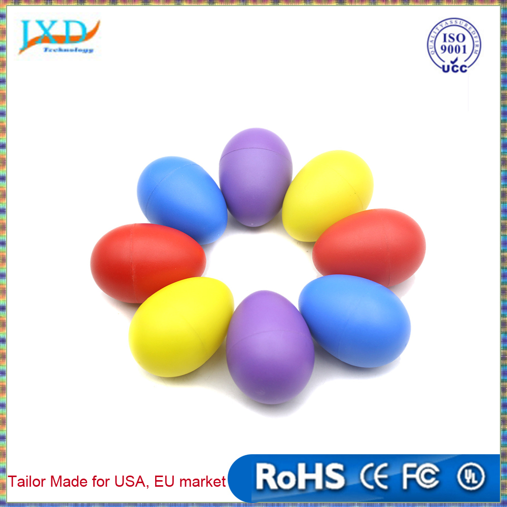 Musical Instrument Pair of Egg Shakers Rattle Rustling Plastic Percussion Musical Toy for Kids KTV Party Games