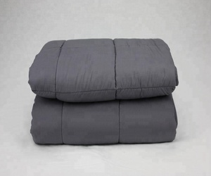"Weighted Blanket Factory Amazon Hot sales 100% Cotton Sensory Blanket 20lbs at 60""x80"" for Adults Grey Color"