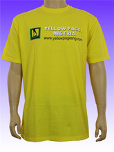 promotion cheap high quality plain yellow soft cotton tshirt