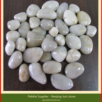 Polished White Pebble Natural Stone For