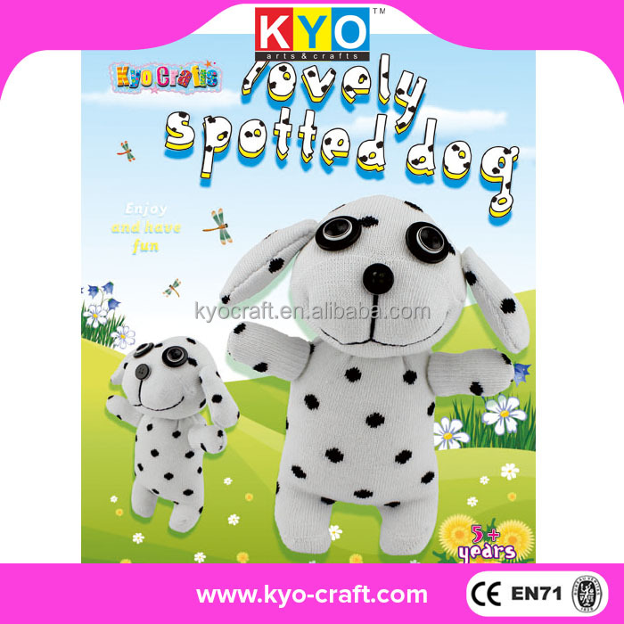 DIY fashion socky doll plush dog toys wholesale