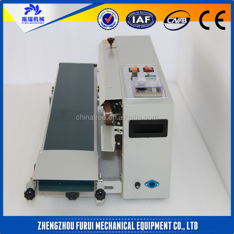 2016 Hot selling continuous band sealer machine/ice candy sealer