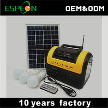 portable 10w solar power system solar panel kit for Africa market