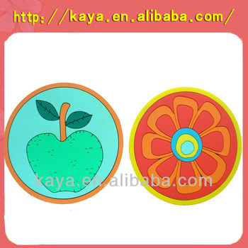 Directly factory customized eco-friendly round shape plastic cup mat