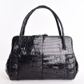handcrafted gloss belly Crocodile shoulder tote handbag