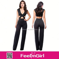 $4.2 Hot sell new style women fashion spandex jumpsuit S M L