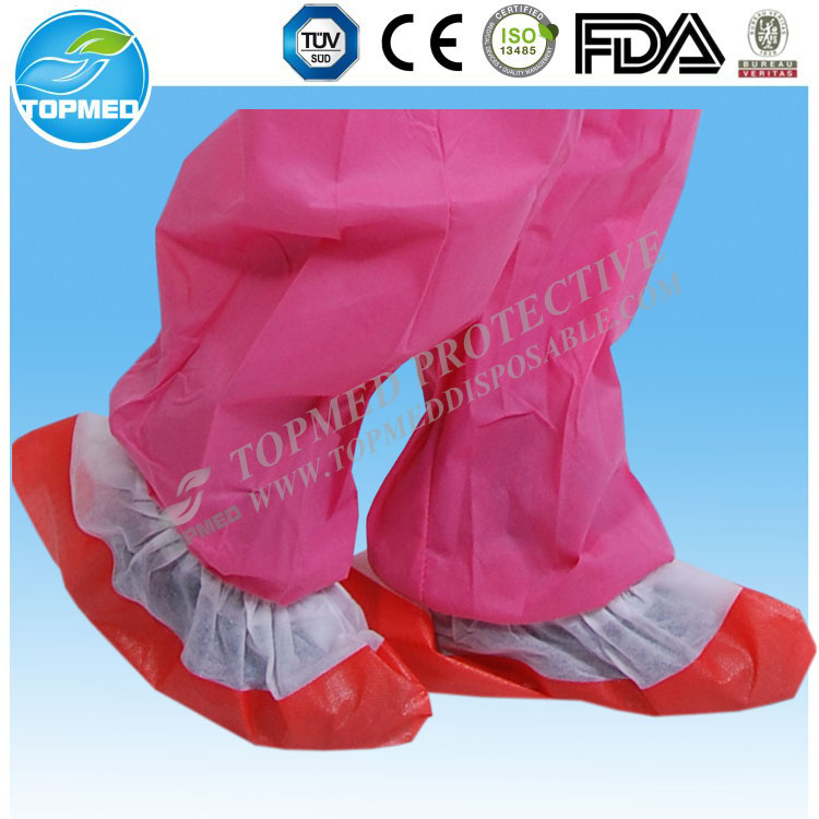Disposable Nonwoven antiskid shoe cover, PP+PE shoe cover for hospital and clean room