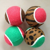 "2.5"" color rubber tennis ball dog toy"