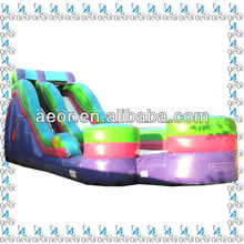 2013 Aeor hot sale rainbow inflatable water slide