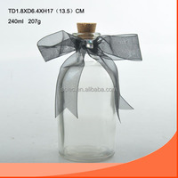 240ML wholesale fancy perfume bottle with cork China manufacturer