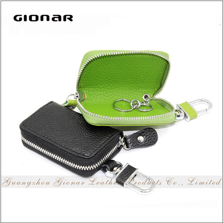 Gionar Brand Manufacturer Leather Keychain Holder Wallet Waterproof Leather Car Key Case Cover