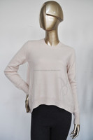 Casual Short Front Long Back 100 cashmere sweater sale
