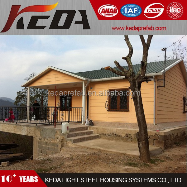 Low Cost Prefab Villas Light Steel Frame Home Bungalow