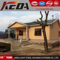 Low Cost Prefab Villas Light Steel Frame Home Bungalow
