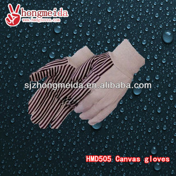 Insulated Work Gloves Cotton Canvas Working Gloves with Plastic Dots
