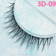 Custom Eyelash Packaging Individual Lashes 3D silk eyelash synthetic fiber with private label and custom package