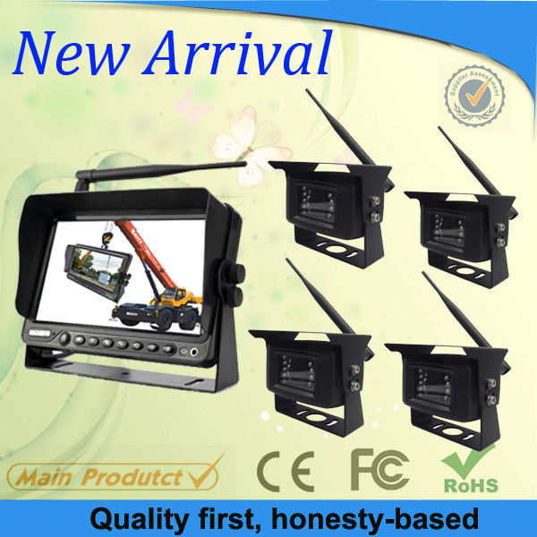 Truck wireless camera system with 4 cameras