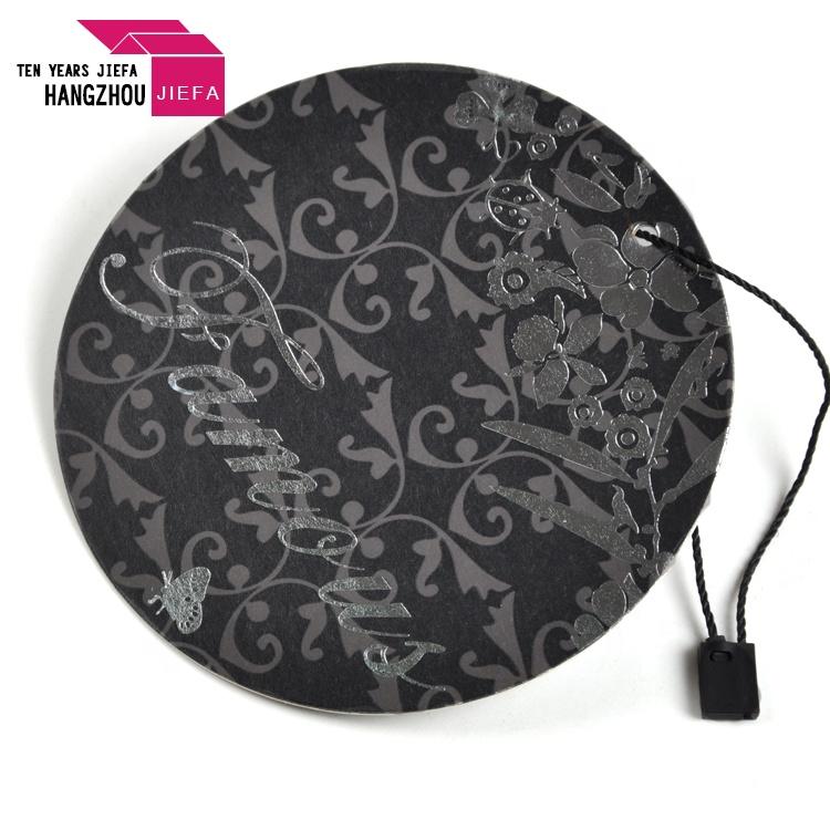 Customized Logo Hang Tag Circle Shape Paper Hang Tag for Clothing