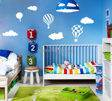 Custom Wall Stickers Sky Cloud Hot Air Balloon Vinyl Wall Decals
