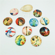 Custom country souvenir fridge magnet for different countries